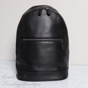 NWT Coach West slim Backpack in Leather Black